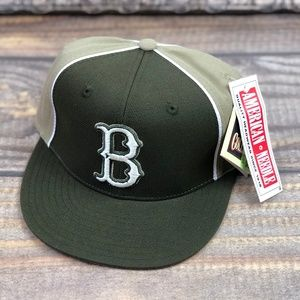 MLB Brooklyn Dodgers Fitted Hat Military Green